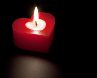 Free Heart Shaped Candle Royalty Free Stock Photo - 15399395