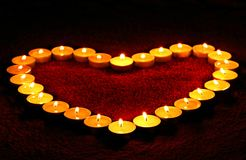 Heart Shaped Candle Royalty Free Stock Photos