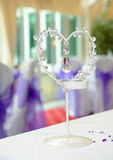 Heart shaped candle holder Stock Image