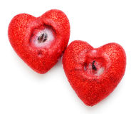 Heart Shaped Candles Stock Photos