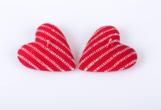 Heart shaped candles Royalty Free Stock Image