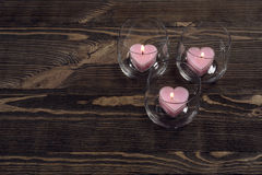 Heart shaped candles Stock Photography