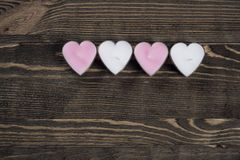 Heart shaped candles Stock Photo