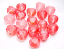 Heart shaped candy as background Royalty Free Stock Image