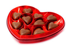Heart shaped candy box Royalty Free Stock Images