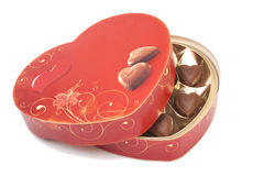Heart shaped candy box for Valentine's Day Stock Image