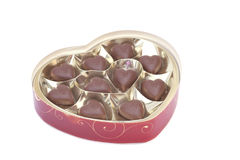 Heart shaped candy box for Valentine`s Day Stock Photos