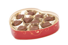 Heart shaped candy box for Valentine's Day Stock Images
