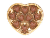 Heart shaped candy box for Valentine's Day Royalty Free Stock Photo