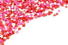Heart shaped candy corner border Stock Photography