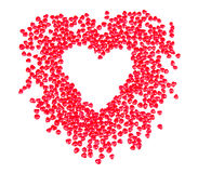 Heart shaped candy in shape of heart Stock Photography