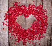 Heart shaped candy in shape of heart Royalty Free Stock Photography