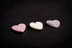Heart shaped candy sweets Stock Photo