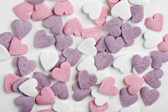 Heart shaped candy sweets Stock Images