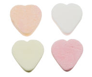 Heart shaped candy sweets Stock Photos