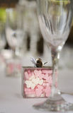 Heart shaped candy wedding banquet Stock Images