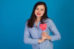 Heart-shaped candy Stock Photo