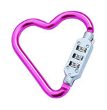 Heart shaped carabiner Stock Image