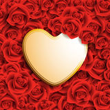 Heart shaped card Royalty Free Stock Photo