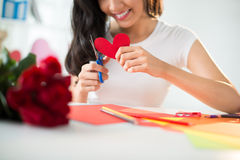 Heart-shaped card Stock Photos