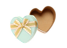 Heart shaped cardboard box Stock Images