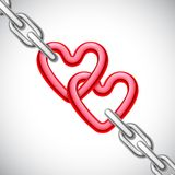 Heart Shaped Chain Royalty Free Stock Photos