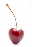Heart-shaped cherry Royalty Free Stock Images