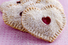 Heart Shaped Cherry Hand Pies Stock Photography