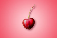 Heart-shaped cherry Royalty Free Stock Photography