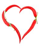Heart shaped chili Stock Photos