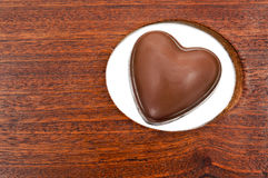 Heart shaped chocolate Stock Images