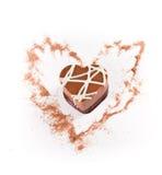 Heart shaped chocolate Royalty Free Stock Photo