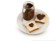 Heart shaped chocolate Stock Photo