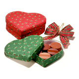 Heart shaped chocolate boxes Royalty Free Stock Images