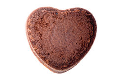 Heart shaped chocolate cake Stock Photography
