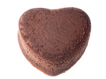 Heart shaped chocolate cake Royalty Free Stock Images