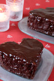 Heart shaped chocolate cakes Stock Image