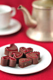 Heart-Shaped Chocolate Candies Royalty Free Stock Image