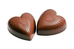 Heart shaped chocolate candy stock image