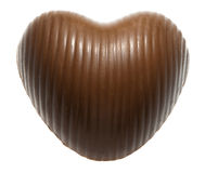 Heart-shaped chocolate candy Stock Photography