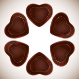 Heart-shaped chocolate candy Royalty Free Stock Photography