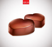 Heart-shaped chocolate candy Royalty Free Stock Images