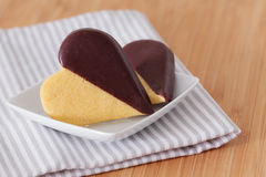 Heart shaped chocolate cookies Royalty Free Stock Photo