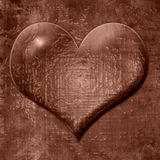 Heart shaped chocolate drop Stock Photography