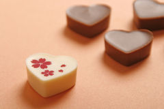 Heart shaped chocolate Stock Photos