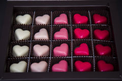 Heart-shaped chocolate  pralines Royalty Free Stock Image