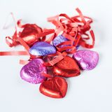 Heart shaped chocolates Royalty Free Stock Images