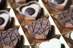 Heart Shaped Chocolates in Box Stock Image