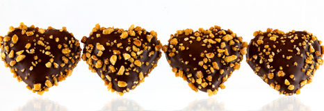 Heart shaped chocolates Royalty Free Stock Photography