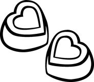 heart shaped chocolates vector illustration Royalty Free Stock Photography